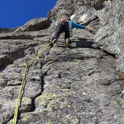 ja v poslednej dĺžke, potom ešte ľahký dolez na vrchol